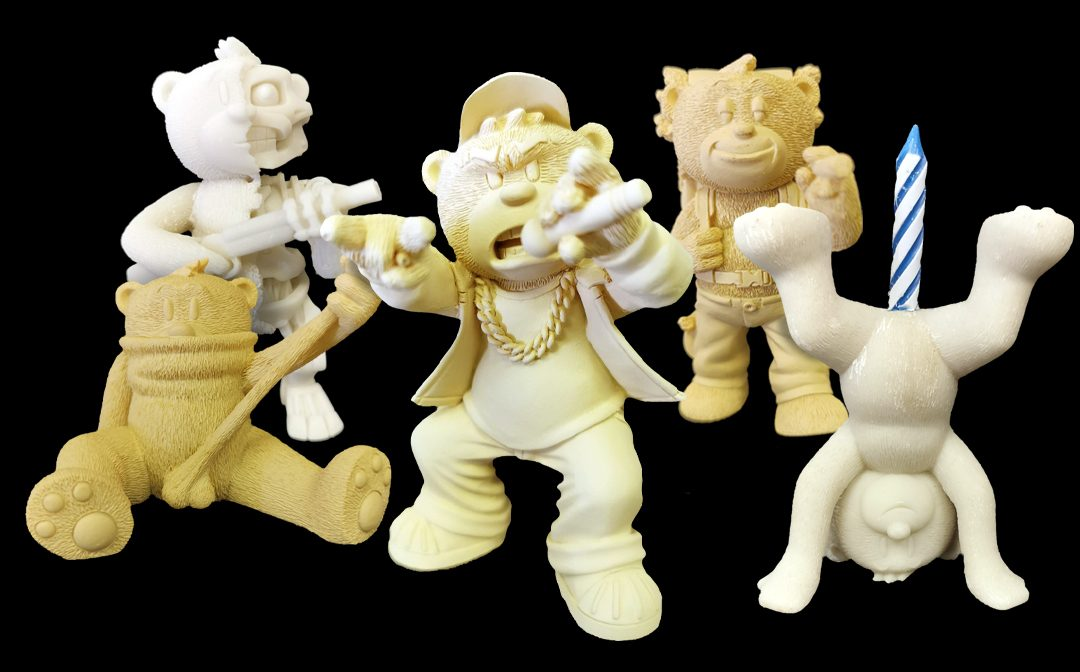 All White? Bad Taste Bears Whitewear & Base Coat Prototypes